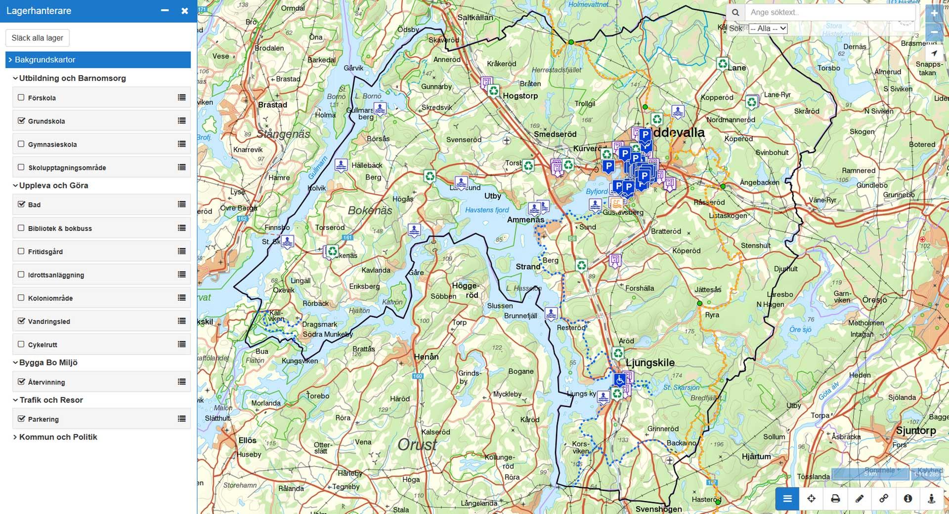 karta uddevalla Kartor   Uddevalla kommun karta uddevalla